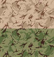 Desert camouflage seamless pattern vector image vector image