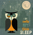 owl with insomnia vector image
