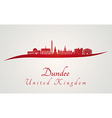 Dundee skyline in red vector image