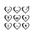 icons Valentines vector image