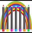 rainbow pencils vector image vector image