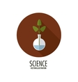 Biology design Science icon Flat vector image