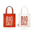 Sale Eco Bag Set vector image