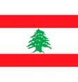 Lebanese flag vector image vector image