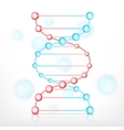 DNA on white vector image