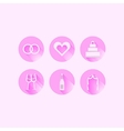 Icons for wedding vector image