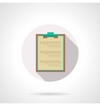 Medical clipboard flat color design icon vector image