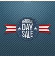 Memorial Day Sale festive Emblem with Ribbon vector image