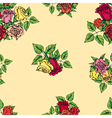 pattern of multicolored roses vector image