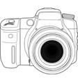 photo camera draw vector image