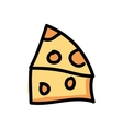 piece cheese isolated icon design vector image