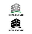 Real estate building logo vector image