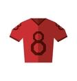 red jersey american football tshirt uniform vector image