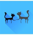 Two Cats Silhouettes vector image
