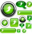 Upload green signs vector image