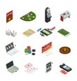 gambling colored isometric icons vector image