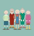 group of elderly women vector image