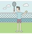 Tennis player man vector image