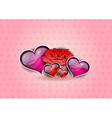 flower and hearts on the background vector image vector image