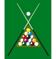 Billiard pool vector image