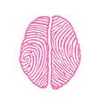 brain with fingerprint vector image