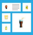 flat icon beverage set of drink lemonade vector image