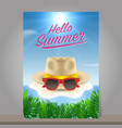 hello summer background season vacation weekend vector image
