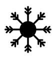 snowflake black icon isolated vector image