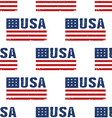 USA word flag pattern backgrouond Seamless vector image