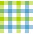 Green blue check plaid seamless pattern vector image