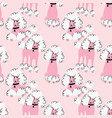 doodle poodle seamless pattern vector image vector image