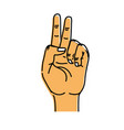 hand with middle finger and fingerprint up symbol vector image