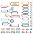 Timeline Infographics Elements vector image