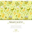 Tea and sweets background vector image