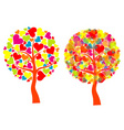 valentines tree background vector vector image