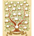 Family Tree template vintage vector image vector image