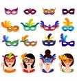 Ball Carnival Icons Set vector image
