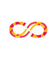 colorful infinity symbol vector image