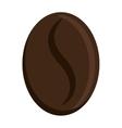 dark brown coffee bean graphic vector image