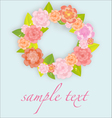 flowers wreath garland vector image