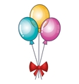 happy birthday party invitation with balloons air vector image
