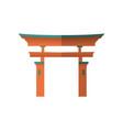 japanese wooden torii gate national symbol vector image