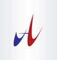 letter a abstract stylized design icon vector image