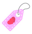 love sale tag flat icon valentines day vector image