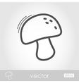 Mushroom outline icon Harvest Thanksgiving vector image