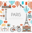 Paris Round Composition vector image