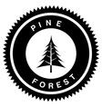 pine forest design vector image
