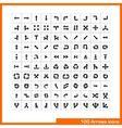 100 arrows icons set vector image