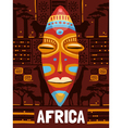 Tribal Ethnic Mask Template vector image
