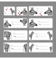 Gift tags with zebras vector image vector image